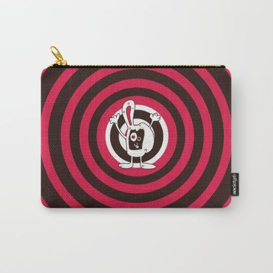 #artwork #graphism #society6 #bunny #red #brown #circles #funny