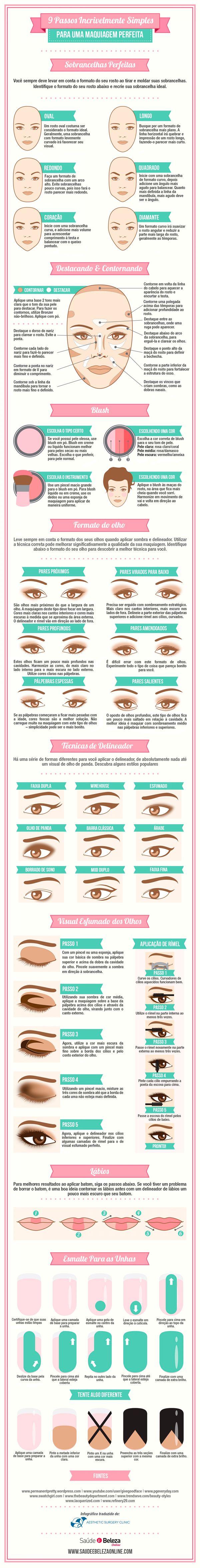 Guia completo para você fazer uma maquiagem perfeita! Clique e Confira!
