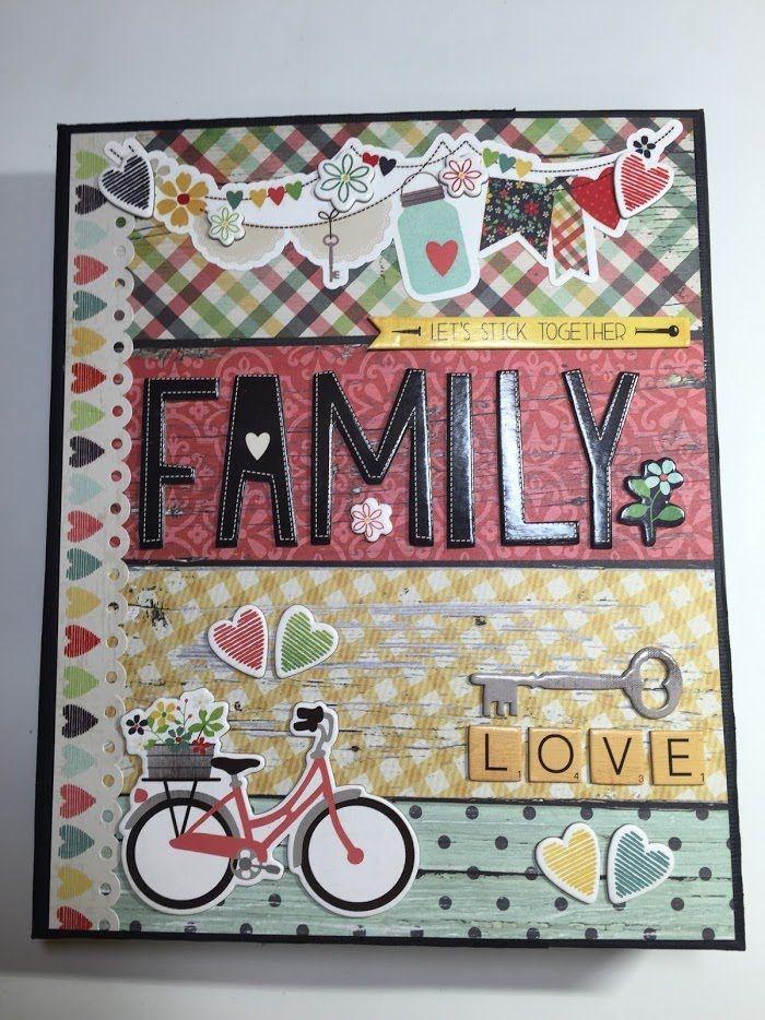"""""""FAMILY"""" Folio Style Mini Album -- scrapbooking mini album                                                                                                                                                                                 Más"""