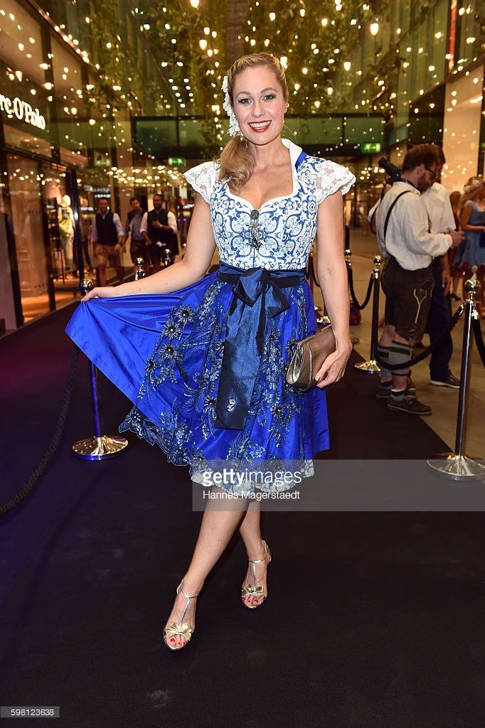 Ruth Moschner during the dresscoded goes Wasen event at Armani Caffe on August 31, 2016 in Munich, Germany. Dresscoded will lend out Dirndl for the Stuttgarter Wasen that will take place from September 29 till October 9, 2016.
