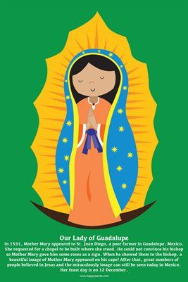 Happy Saints Mother Mary Posters: Happy Saints Our Lady of Guadalupe Poster, $5.00 from MagCloud