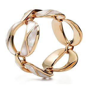 Gold and platinum bracelet