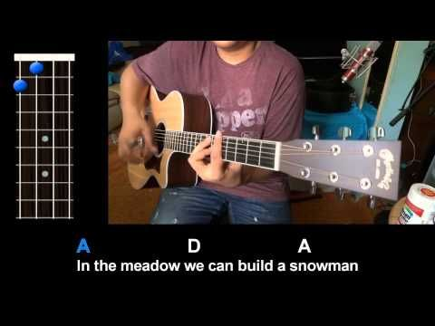 """Winter Wonderland"" Ukulele - good chords way too fast"