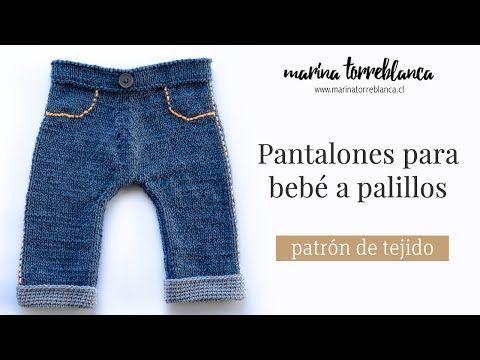 Pantalones para bebe a palillos [patron de tejido] - Marina Torreblanca Blog
