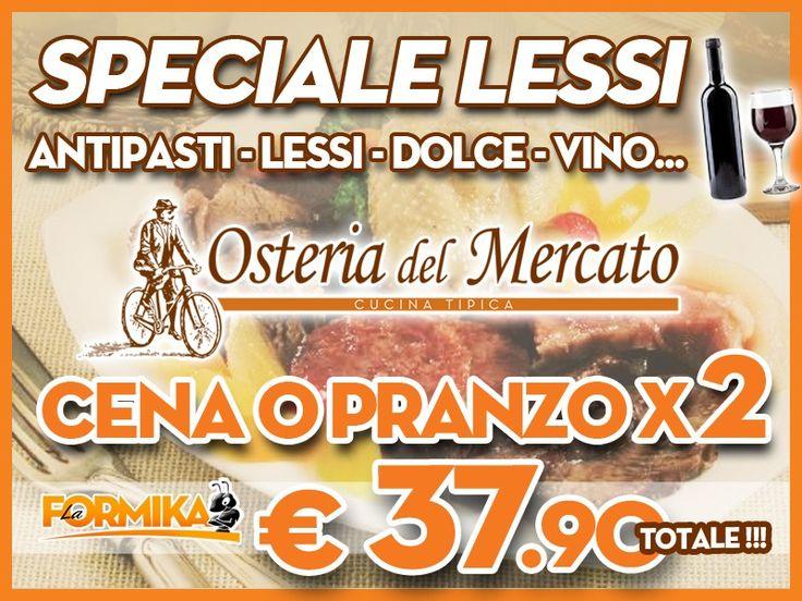 Coupon e Sconti Lodi Crema Pavia Piacenza  OSTERIA DEL MERCATO - Menu speciale lessi per 2 a soli € 37,90