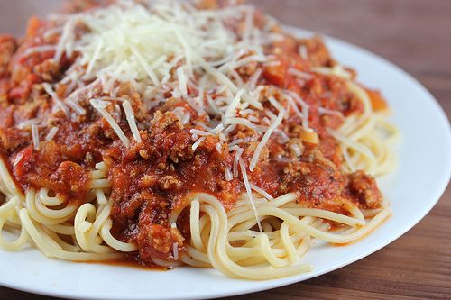 Turkey Spaghetti Sauce Recipe-looks like sauce with ground beef or sausage. Will give this a try to lighten the fat.