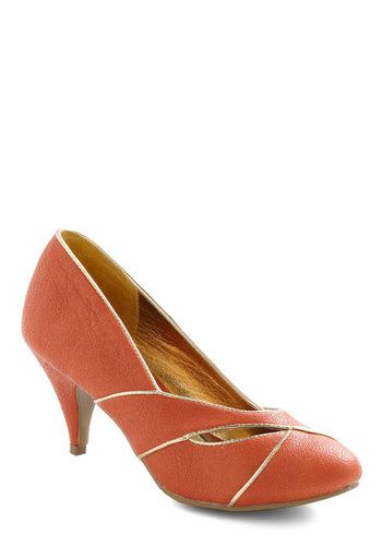 Mango Your Own Way Heel, #ModCloth. Great name. I don't really wear heels but these are cute.