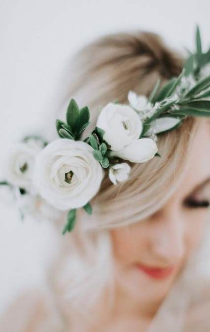 Super Boho Bridal Hairstyles Bohemian Flower Crowns Ideas
