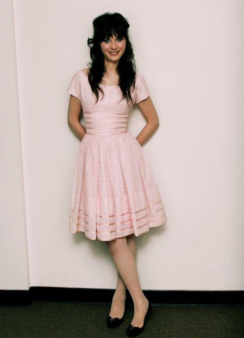 the perfect dress. light pink palette. silk details. simple but flattering cut.