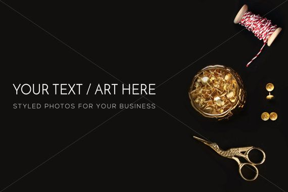 Minimal Desktop Black Desk Black and Gold Theme by confettibears
