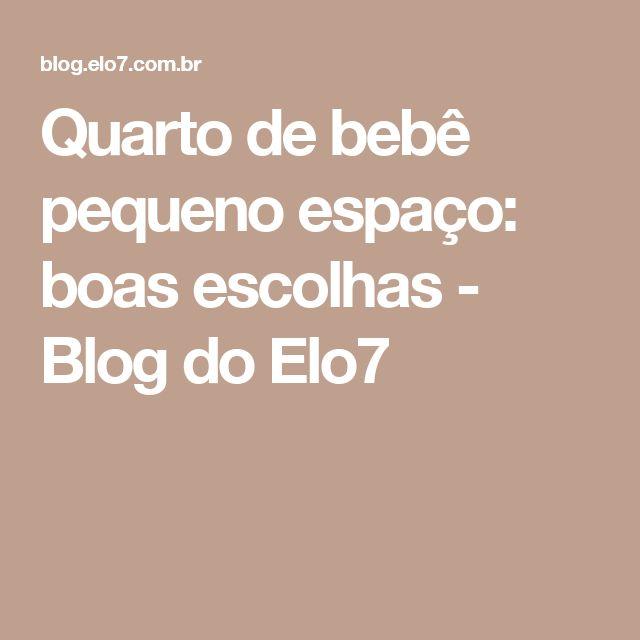 Quarto de bebê pequeno espaço: boas escolhas - Blog do Elo7