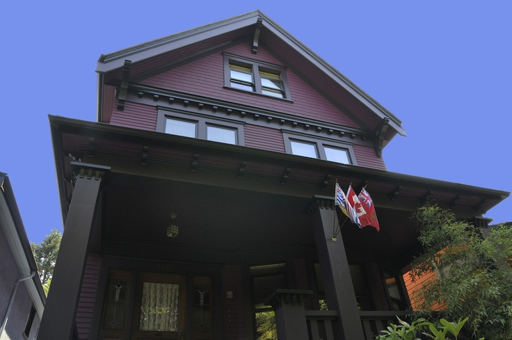 Purple and black Vancouver heritage home