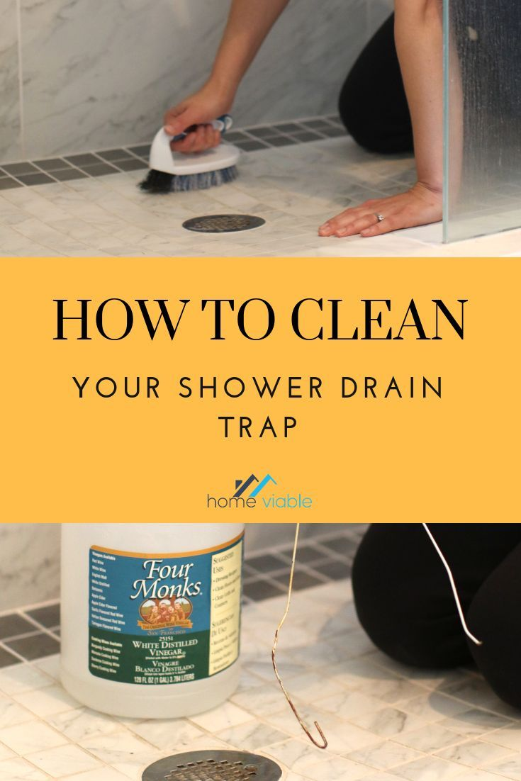 Learn How To Clean Your Shower Drain Trap With These Easy Diy Techniques Ranging From A Simple Coat Hanger All Shower Drain Clean Shower Drain Shower Cleaner