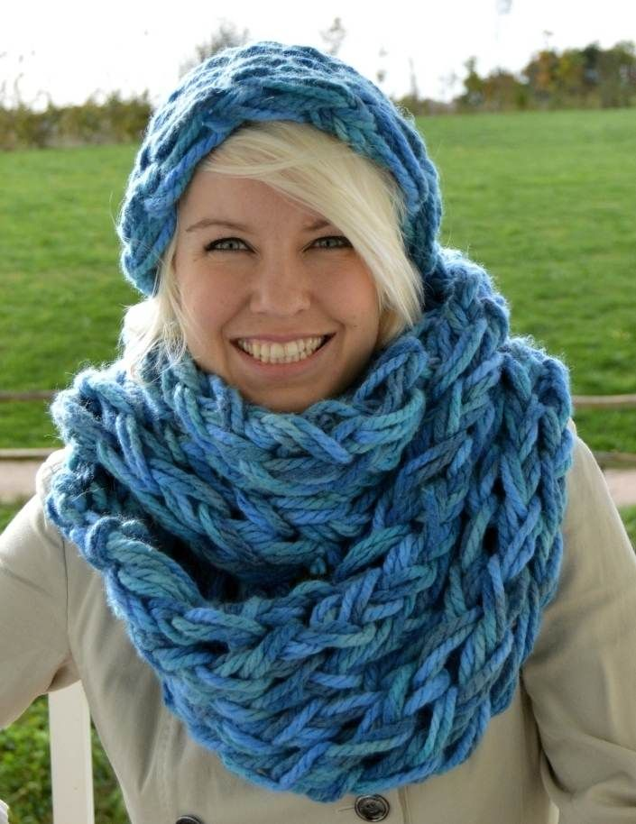 met verschillende kleuren arm-breien sjaal How to Make 30 Minute Infinity Scarf - Knit - Handimania