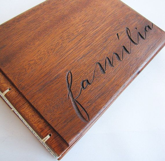 Wooden album Wedding small album Upcycled Família от lacunawork