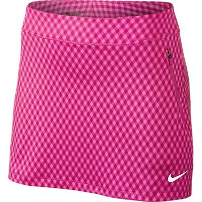 CLEARANCE Nike Ladies Gingham Flight Golf Skorts - Pink Pow/Hot Pink