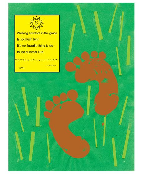Summer Fun Art Project With Poem Card Page To Print Summer