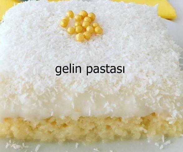 Gelin pastası, hem çok şık ve hem de lezzetli bir pasta tarifi.