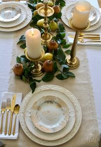 Rustic Gold Thanksgiving Table