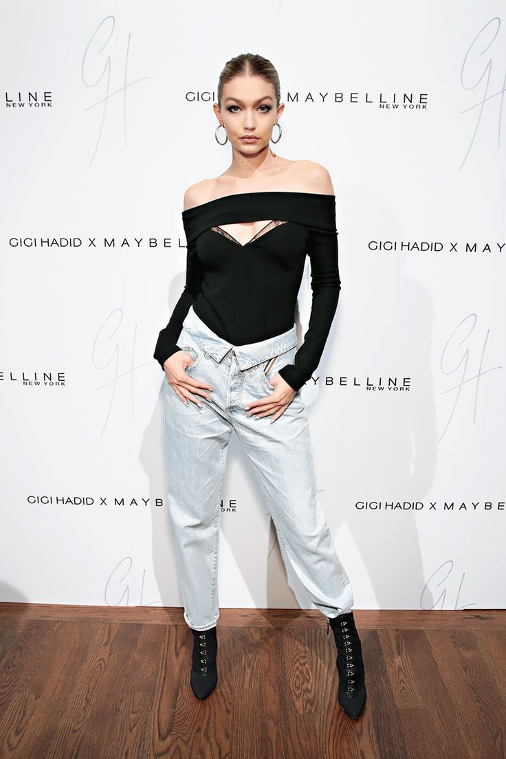 In Jean Atelier - At the Gigi Hadid x Maybelline New York International Launch Party in New York City, 2017