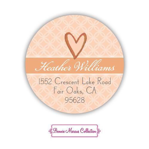 Wonderful Weddding Dress (Fall) Return Address Sticker | BonnieMarcus.com