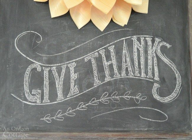 Thanksgiving Chalkboard-Give Thanks