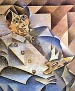 Portrait of Pablo Picasso 1912  by Juan Gris