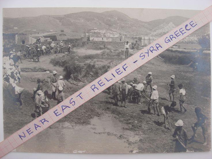 NEAR EAST RELIEF SYRA GREECE ORPHANAGE ORPHANS GENOCIDE ARMENIA UNIQUE PHOTO #01