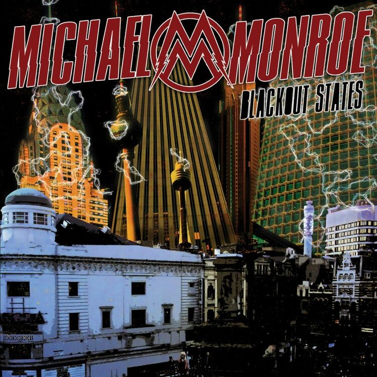 Cover of the New album from Michael Monroe *Blackout States *