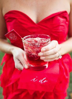 Red signature cocktail