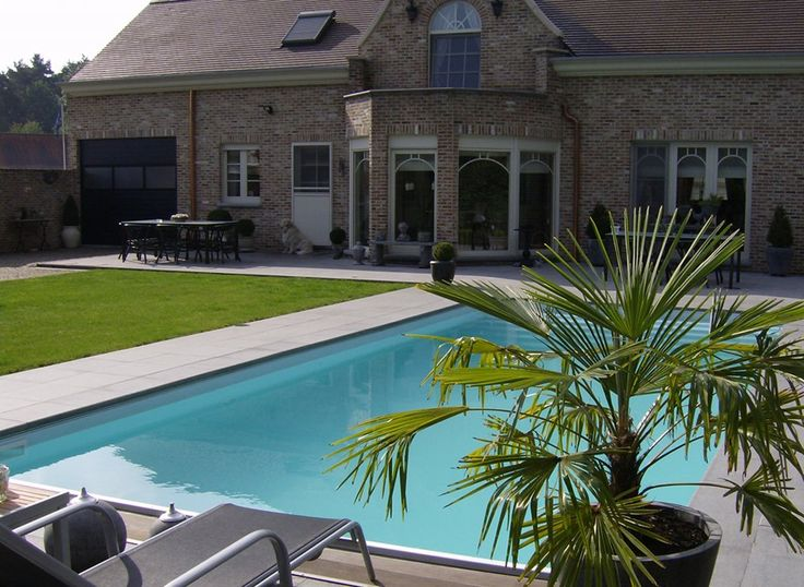 32 best zwembad projecten images on pinterest - Witte pool liner ...
