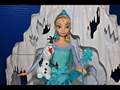 Frozen Barbie Size Castle & Ice Palace Playset Elsa, Kristoff, Anna, Olaf Toys Review DisneyCarToys