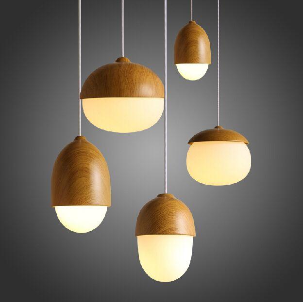 Деревянные старинные дизайнерские светильники твердой древесины подвеска лампы бар ресторан огни кабинет подвесные светильники