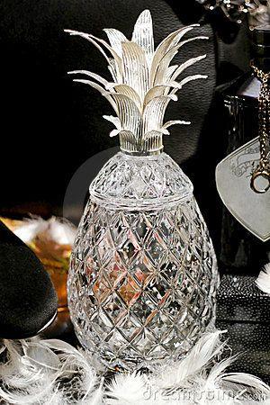 Crystal bottle in shape of pineapple
