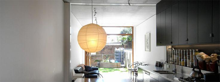 GRAFT HOUSE – DARLINGTON #house #sydney #concrete #timber #blackbutt #splitlevel #architect #innerwest #darlington #black #kitchen