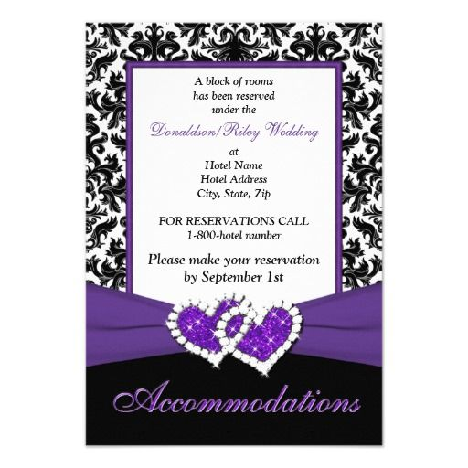 181 besten Purple Black White Damask Wedding Invitations Bilder