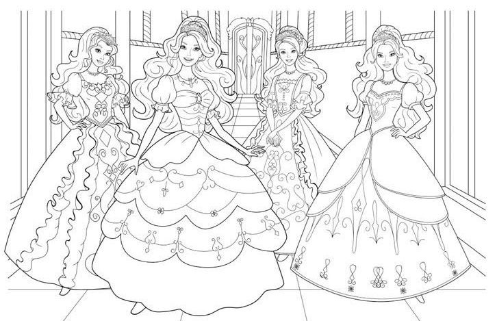 Dibujos De Barbie Princesa Para Colorear Con Imagenes Barbie
