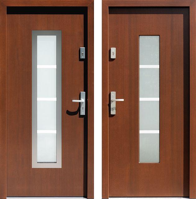 Drzwi wejściowe do domu z katalogu inox wzór 499,3-499,12