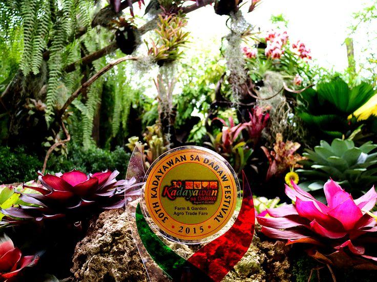 An award at the Kadayawan Festival Agri-Trade Fair.
