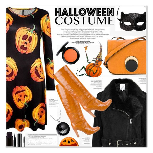 """""""HALLOWEEN COSTUME"""" by nanawidia ❤ liked on Polyvore featuring Marni, La Bête, H&M, Sergio Rossi, Givenchy, Chanel, MAC Cosmetics, Arche, polyvoreeditorial and polyvorecontest"""