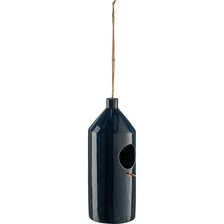 Mangeoire A Oiseaux En Ceramique Bleu D11xh30cm Prisca Decoration D Exterieur Alinea En 2020 Oiseaux En Ceramique Mangeoire Oiseau Mangeoire