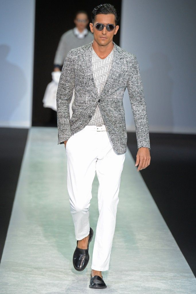 Giorgio Armani Men's RTW Spring 2014 tone on tone