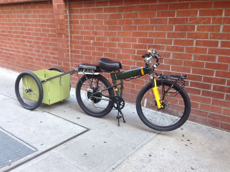 Collapsible bike trailer