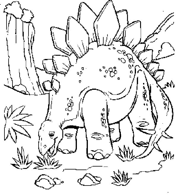 plant eating dinosaur coloring pages