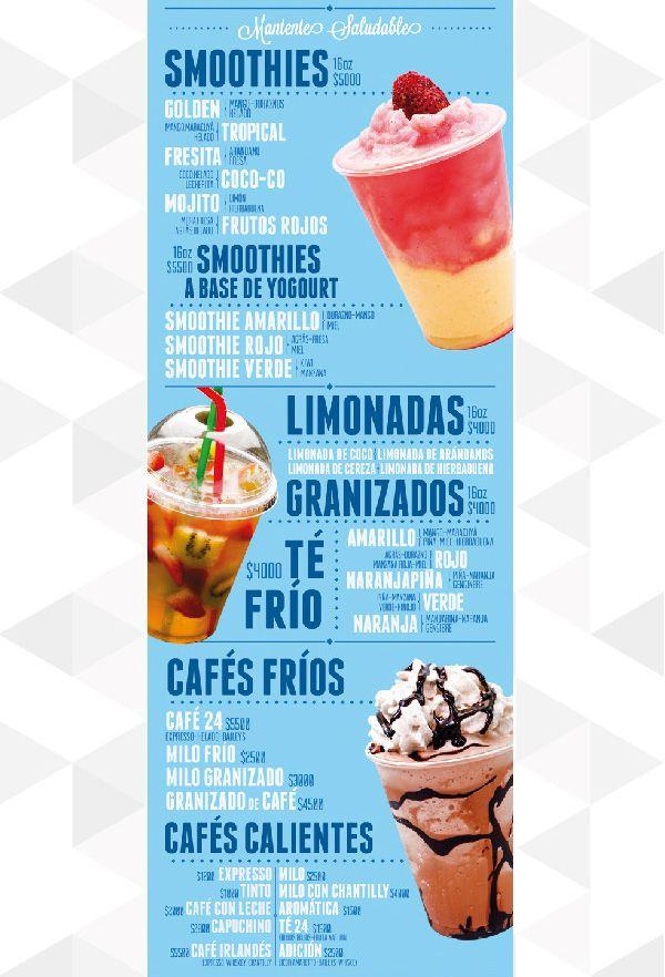 20 Deliciously Designed Food & Drink Menus Carta 24 Foodmart Trailer by Letrapegada Diseño