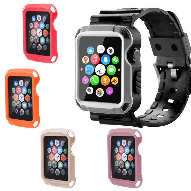Apple Watch Case,iitee Full Armor Case and Strap with Screen Protector for Apple Watch 42mm (5 in 1 set)
