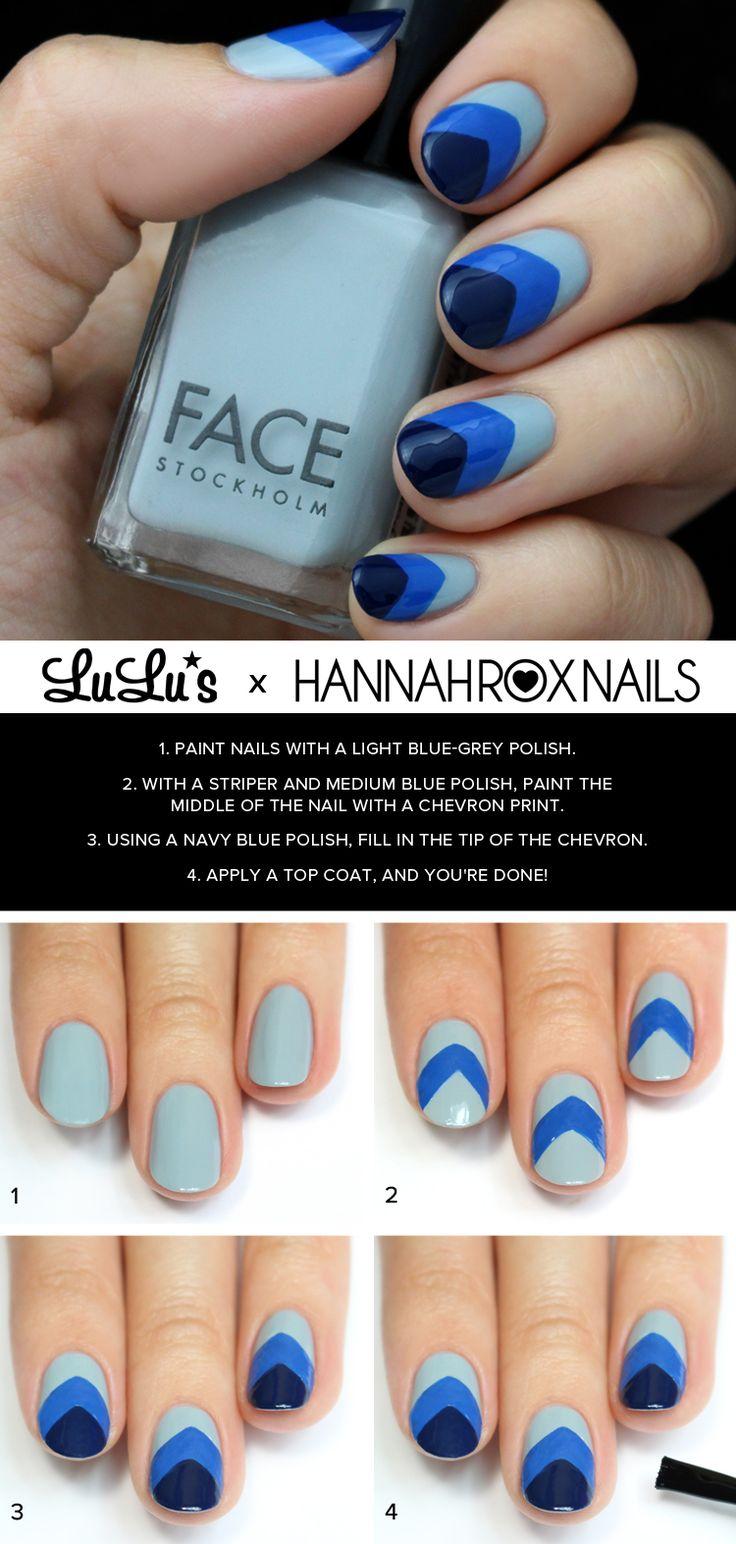 Utiliza los colores de tu preferencia y sigue estos pasos para lucir un manicure espectacular.