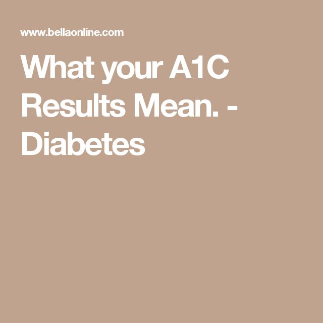 What your A1C  Results Mean. - Diabetes