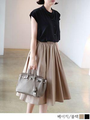 korean fashion online store [COCOBLACK] Jenna FlareSK / Size : FREE / Price : 49.15 USD #fashion #flare #flareskirt #skirt #girlish #korea #missy #missylook #fashion #style
