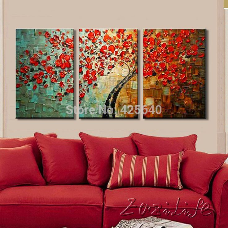 Find More Painting & Calligraphy Information about Oil painting On Canvas Wall Paintings For Living Room Multi 3 piece Panel Canvas Wall Art Palette Knife texture Hand Painted,High Quality decor oil painting,China decorative painting crafts Suppliers, Cheap decorative painting store from Eazilife Oil Painting on Aliexpress.com